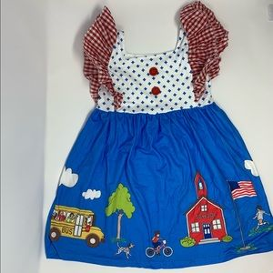 Other - Boutique School dress Red white, & blue